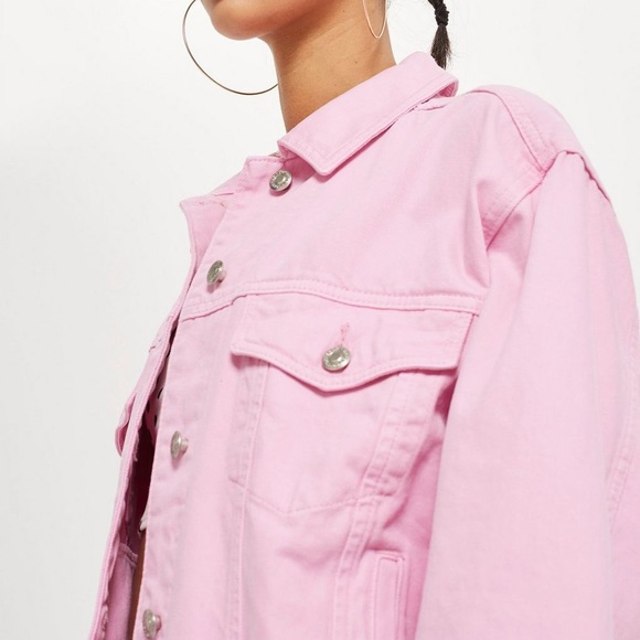 shop for original great deals half price Pink Denim Jacket NWT